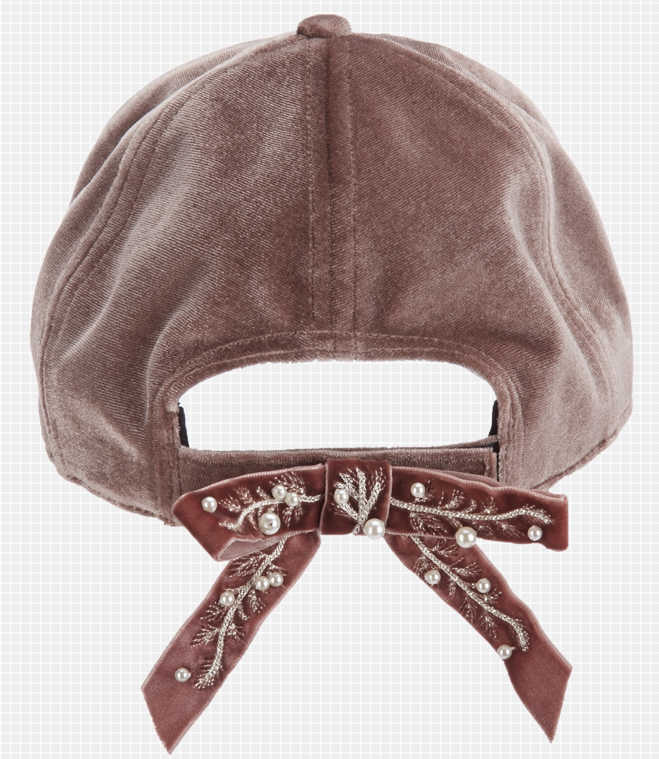 47ab6a70df106 Adorable everyday velvet baseball cap with a sweet back bow.