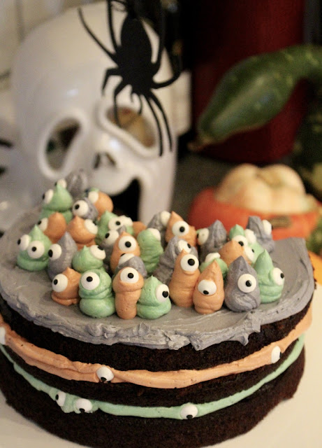 Halloween Geister Torte - Spooky Eyes Cake - Youtube Kooperation Halloween 2016