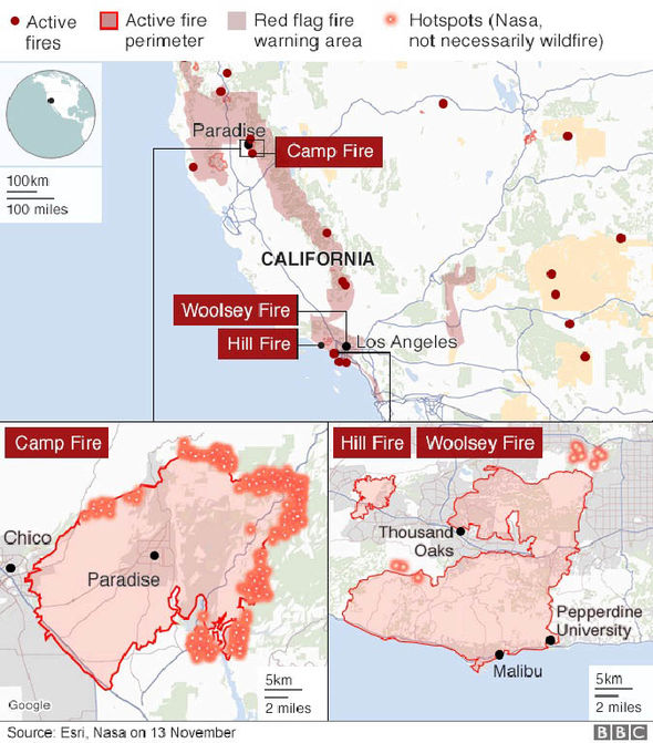 Map of the Week: California Wildfires Zoomed Map Of Malibu California on rand mcnally map of california, political map of california, topo map of california, geological map of california, printable map of california,