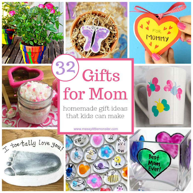 gifts for mom from kids homemade gift ideas that kids can make
