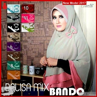 RYB077B Hijab Jilbab Cantik Khimar Murah Delisa BMG Online Shop