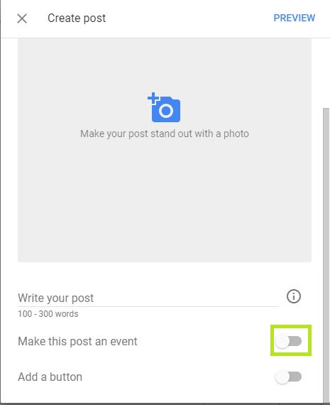 Google my business post is live in India