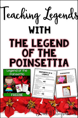 "Your elementary students are going to love learning about theme with the story ""The Legend of the Poinsettia"" by Tomie dePaola. Your 2nd, 3rd, 4th, & 5th grade students can watch a video about the author, work on writing, do a fun craft activity, enjoy the FREE downloads, and work on a digital Google Drive resource with the ideas presented here. Christmas or Holidays Around the World can also be incorporated into this book and lesson. {second, third, fourth, freebie}"