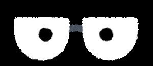 目の描かれた眼鏡のイラスト5