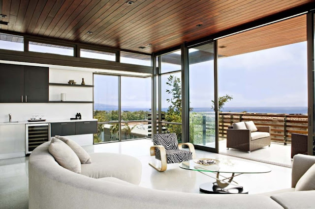 Living room view in the Modern Contemporary Ettley House