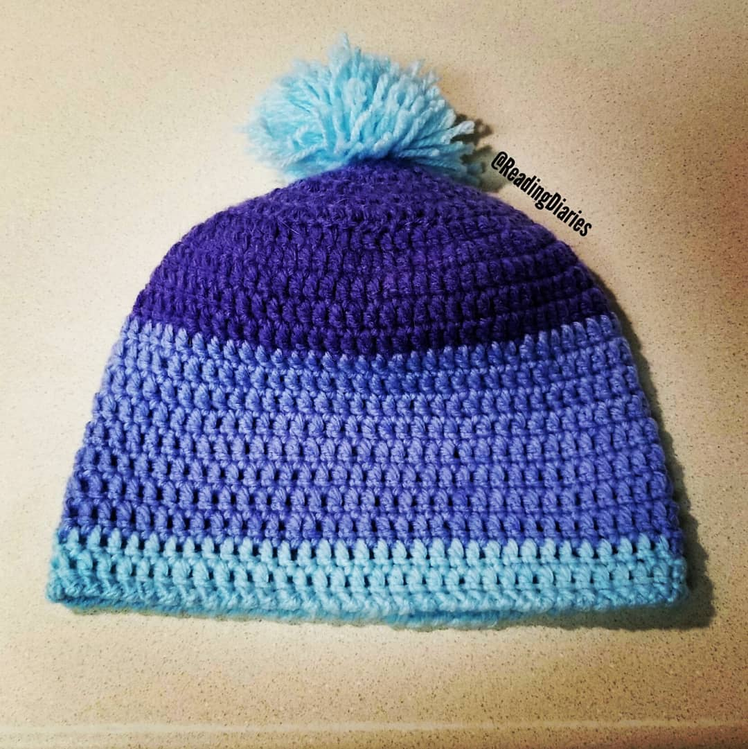 bee6b87ed9de46 Completed my first hat of 2018. I ve been trying to figure out what to do  with that yarn for days. Quote  fun stuff
