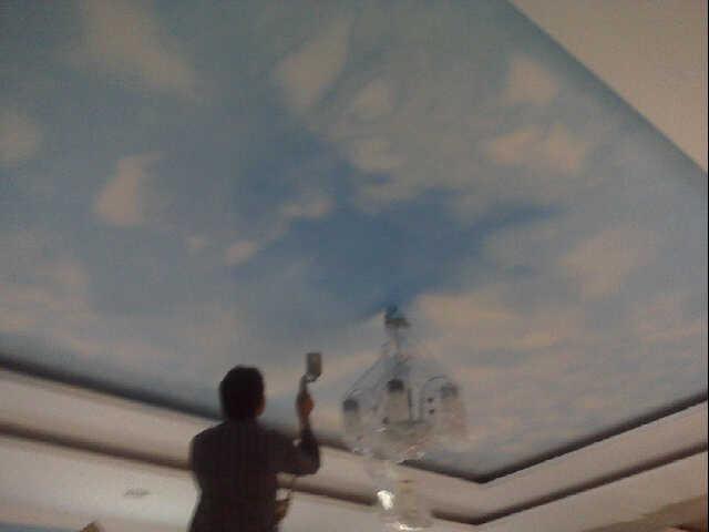 Lukisan Awan di Plafon
