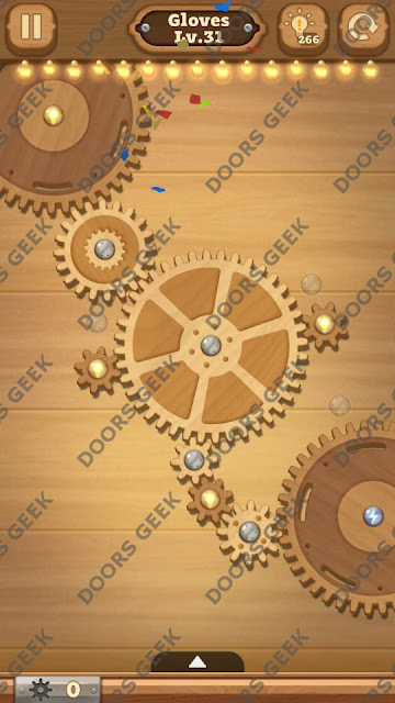 Fix it: Gear Puzzle [Gloves] Level 31 Solution, Cheats, Walkthrough for Android, iPhone, iPad and iPod
