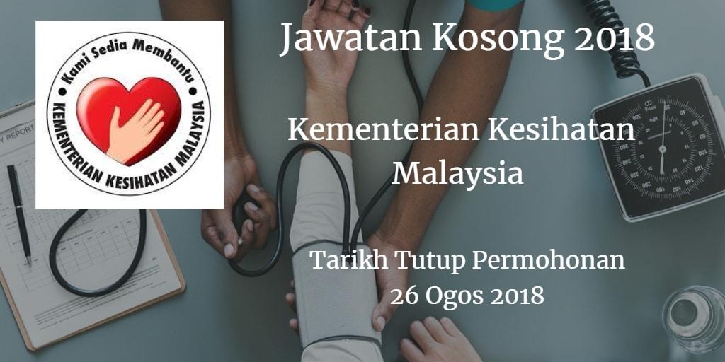 Jawatan Kosong KKM 26 Ogos 2018