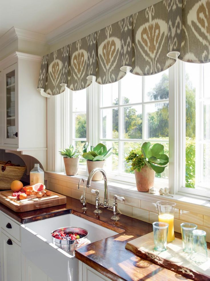 Curtains In A Bay Window Kitchen Bathroom Windows