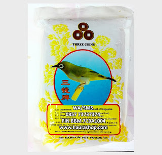 Three Coins adalah pakan pleci import berkualitas dari Singapura. Kaya akan nutrisi sehingga sangat baik digunakan sebagai pakan burung pilihan untuk Pleci Anda.