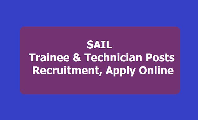 SAIL Trainee & Technician Posts Recruitment
