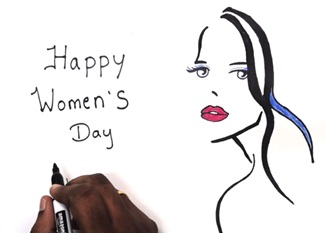 Women's day drawing & Greeting card | Womens Day Special | bharathiyar songs