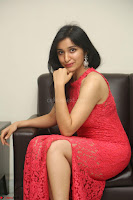 Sakshi Kakkar in Red Legsplit Sleeveless Gown at Dare movie Press meet ~  Exclusive 029.JPG