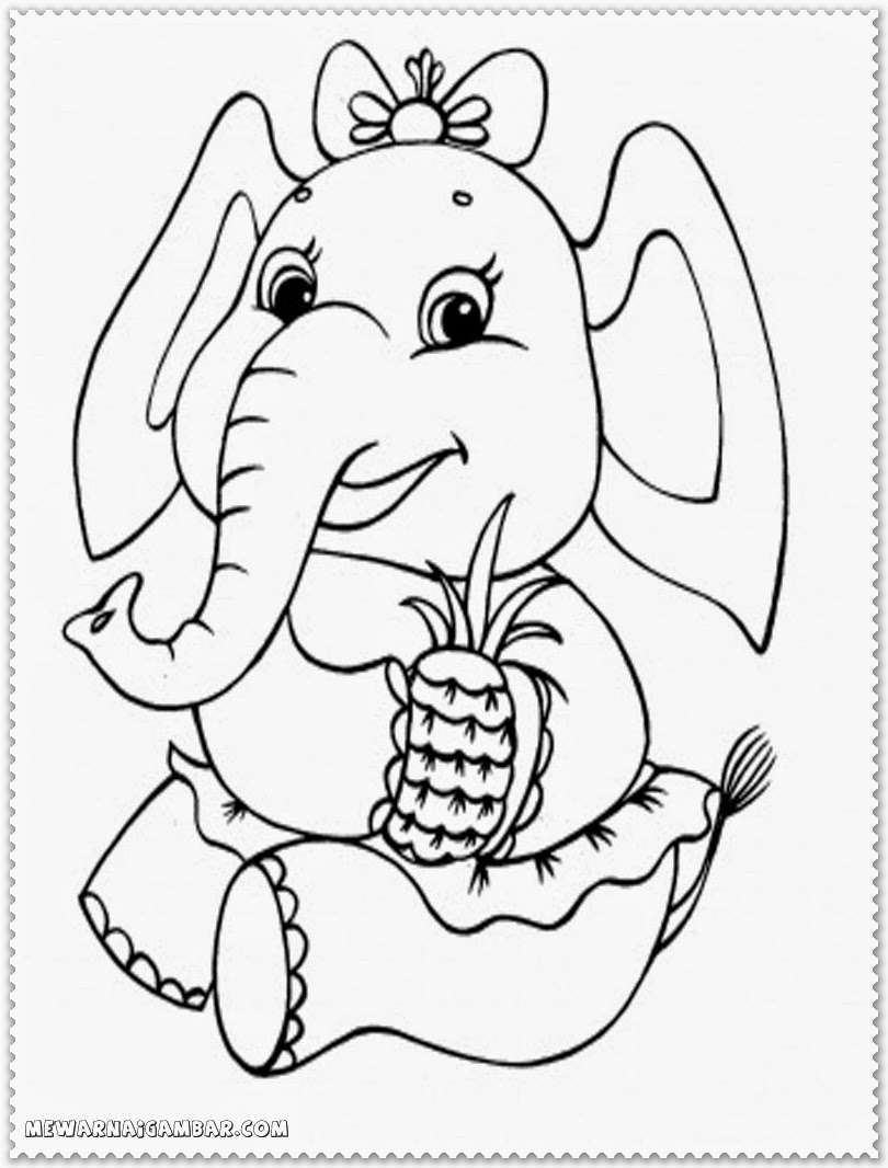 Coloring Pages Dumbo Elephant