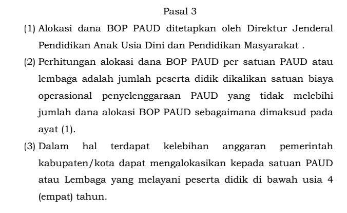 Download Juknis Tata Cara dan Peraturan Penggunaan Dana BOP Bagi Penyelenggara PAUD Tahun Ajaran 2016-2017 Format PDF