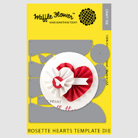 Rosette Hearts Template Die