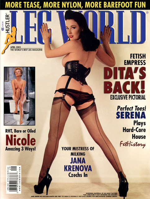 Dita Von Teese, Leg World, April 2003