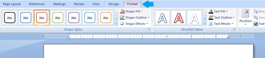 Tab format pada text