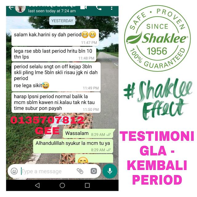 GLA Shaklee untuk period tak teratur