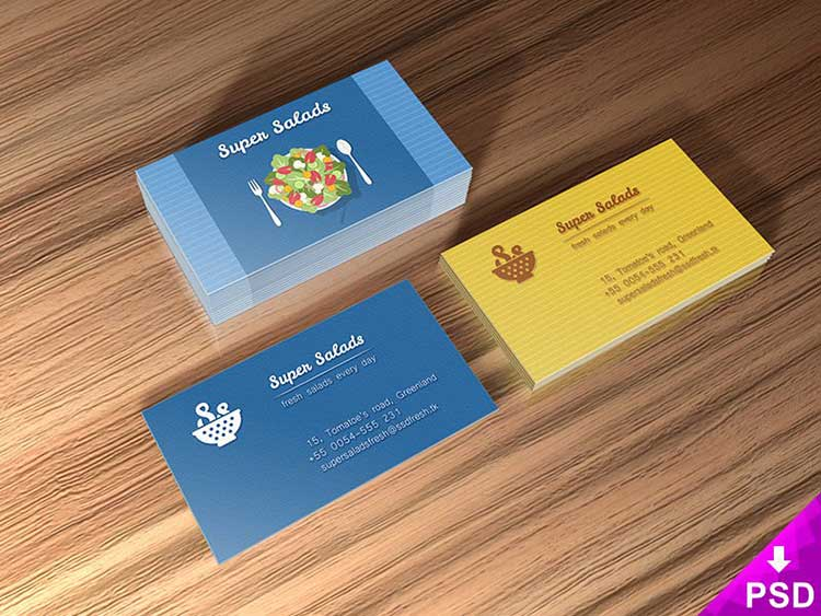 Super Business Cards Mockup