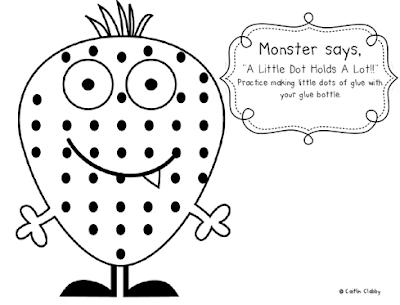 Classroom Freebies: Glue Dot Practice!