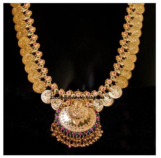 Gold Jewellery Designs: Malabar designs Lakshmi Kasu Mala