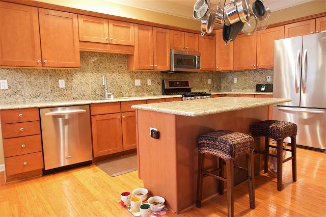 Before photo - before white kitchen update