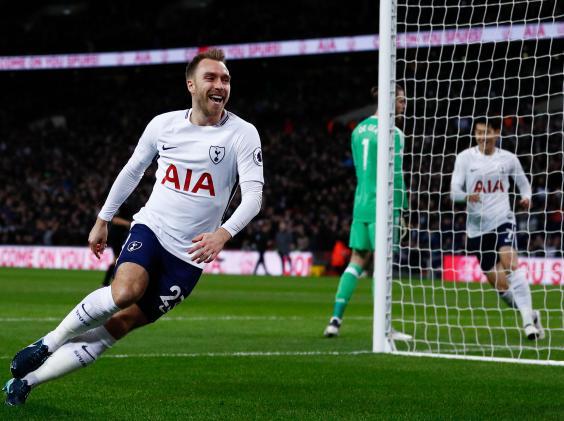 Christian Eriksen's 10.5-second goal sets Tottenham for 2-0 win over Manchester United