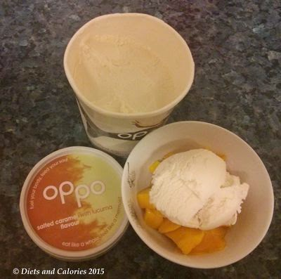 Oppo Salted Caramel ice cream with Lucuma