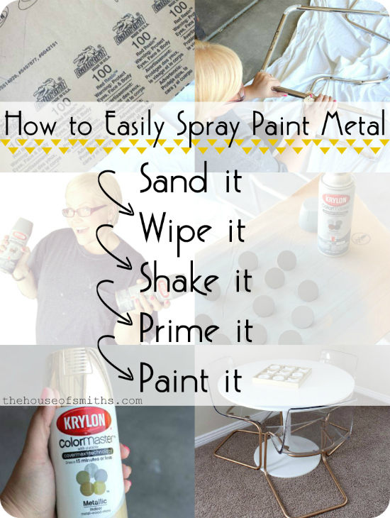 Chrome Chairs go Gold & A Game Table + How to Spray Paint Metal