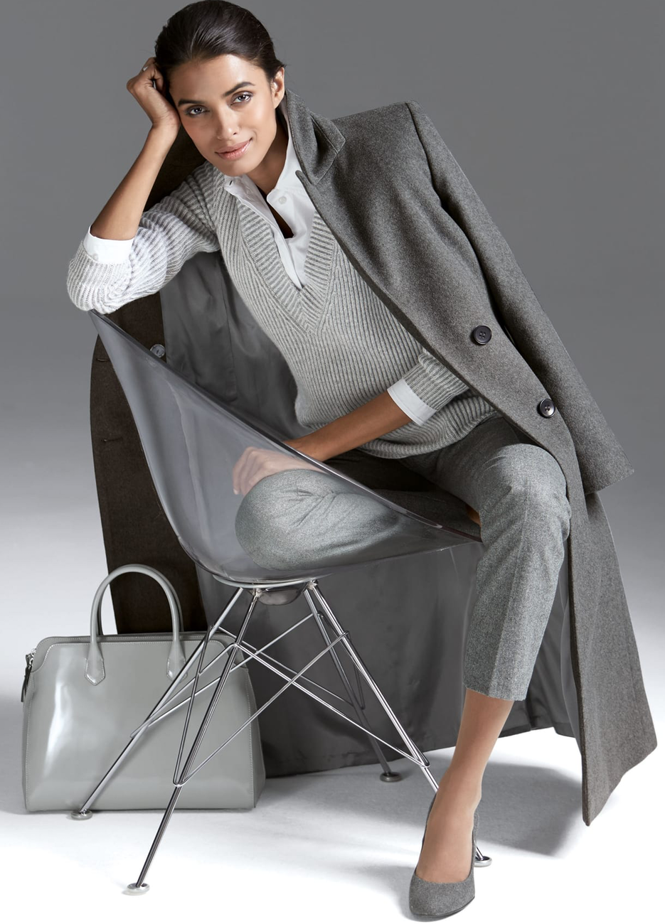 Madeleine Grey Coat