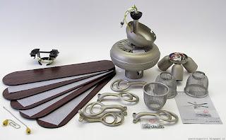 Klarstein Charleston lampadario ventilatore, contenuto confezione