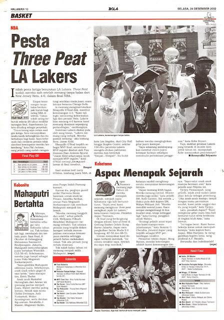 NBA PESTA THREE PEAT LA LAKERS