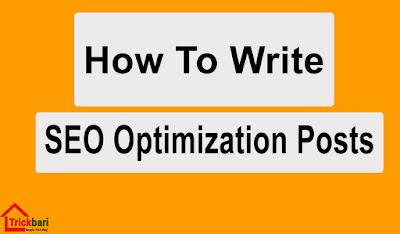 How Write Seo Optimized Blog Post
