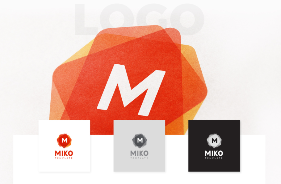 download miko logo pattern and stationery templates free design data
