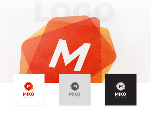 Download MIKO - Logo Pattern and Stationery Templates