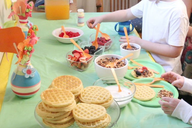 Waffle Bar Sleepover Party Ideas   The OT Toolbox