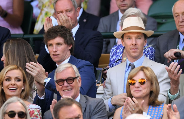 Eddie Redmayne e Benedict Cumberbatch durante a final de Wimbledon | Ordem da Fênix Brasileira
