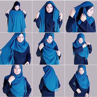 Tutorial Hijab Syari sederhana