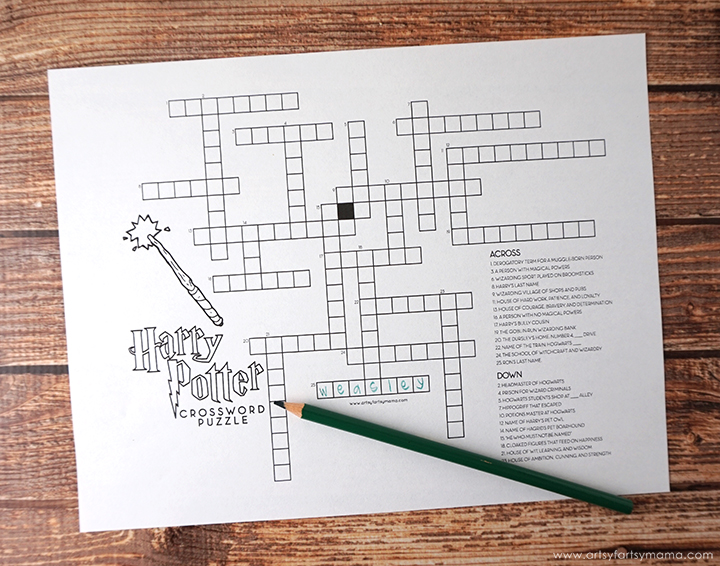 picture regarding Harry Potter Crossword Printable known as Absolutely free Printable Harry Potter Match Pack artsy-fartsy mama