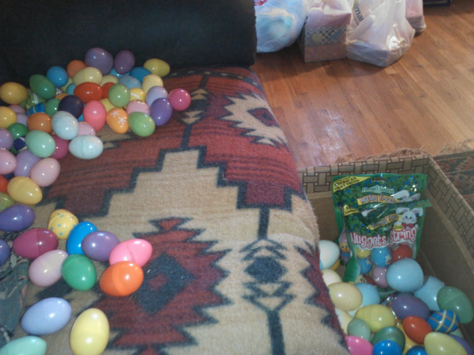 getting ready for massive Easter egg hunt