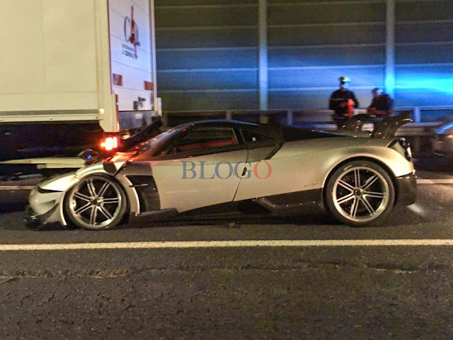 A Pagani Huayra BC Has Crashed Into A Truck In Rome