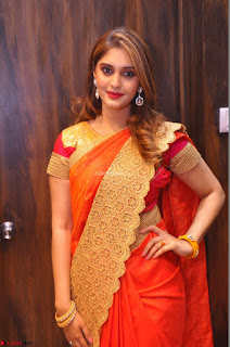 Surabhi looks stunning in Saree at Nakshatra Fashion Store Launch at Suchitra X Road 03.JPG