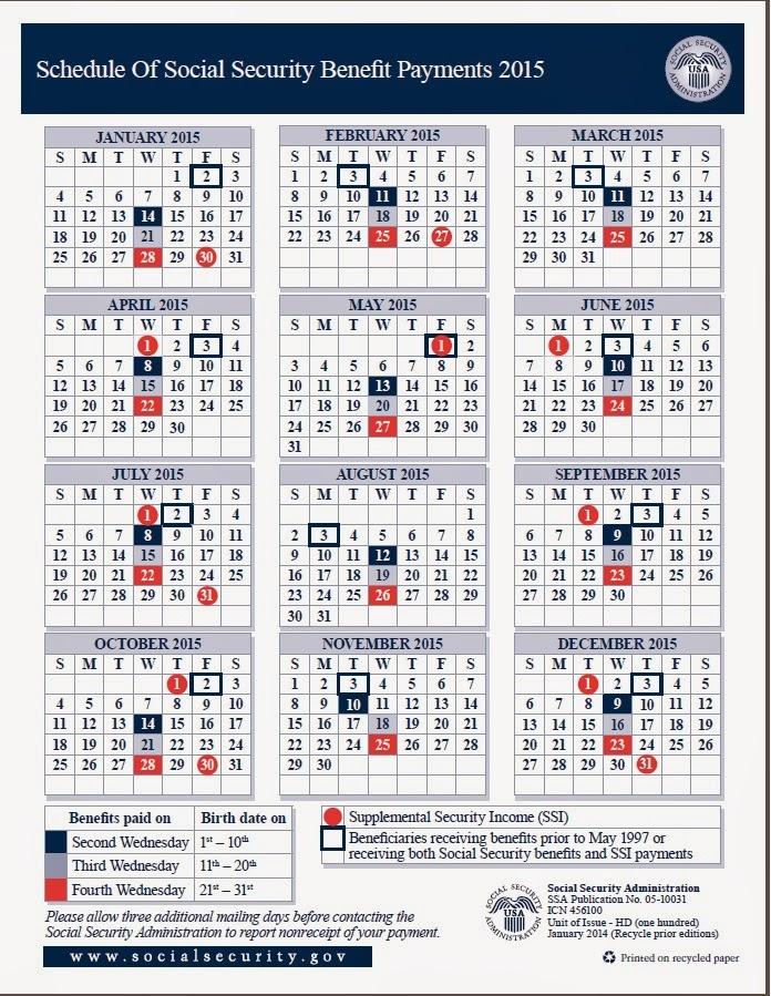 Payment Calendar Template. new schedule social security payment 2016 ...