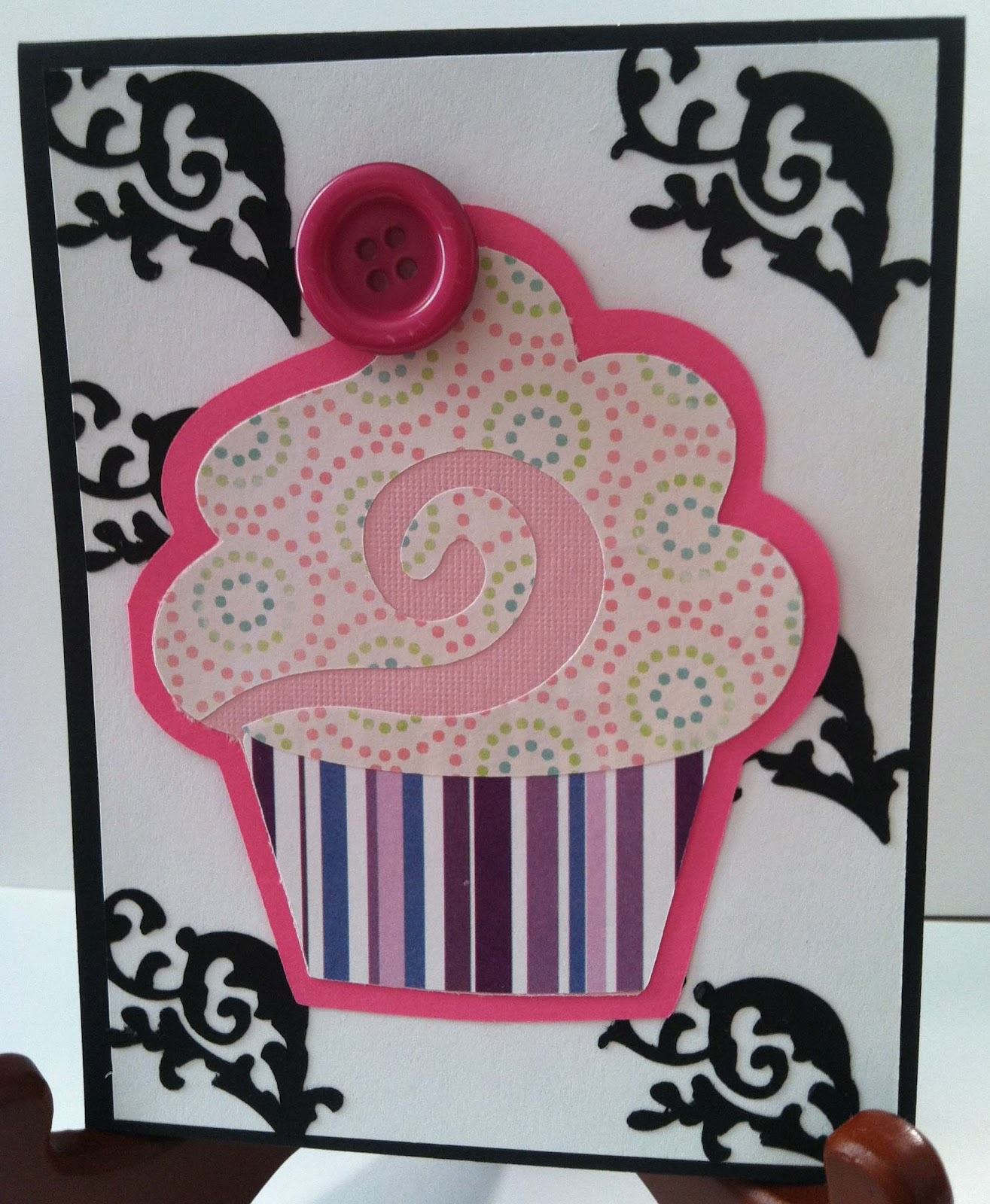 toadily handmade crafts happy birthday card with flourishes