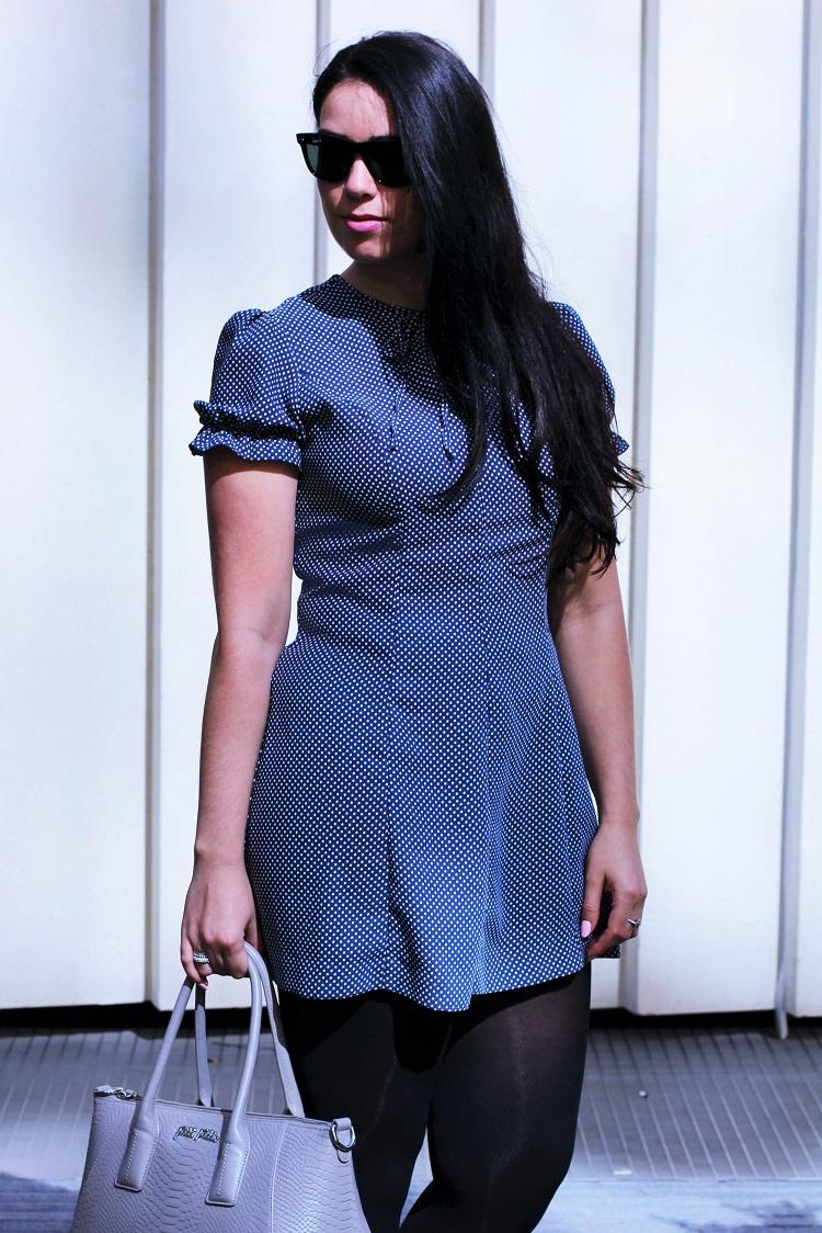 Archive By Alexa Chung M&S polka dot dress - UK style blogger Emma Louise Layla