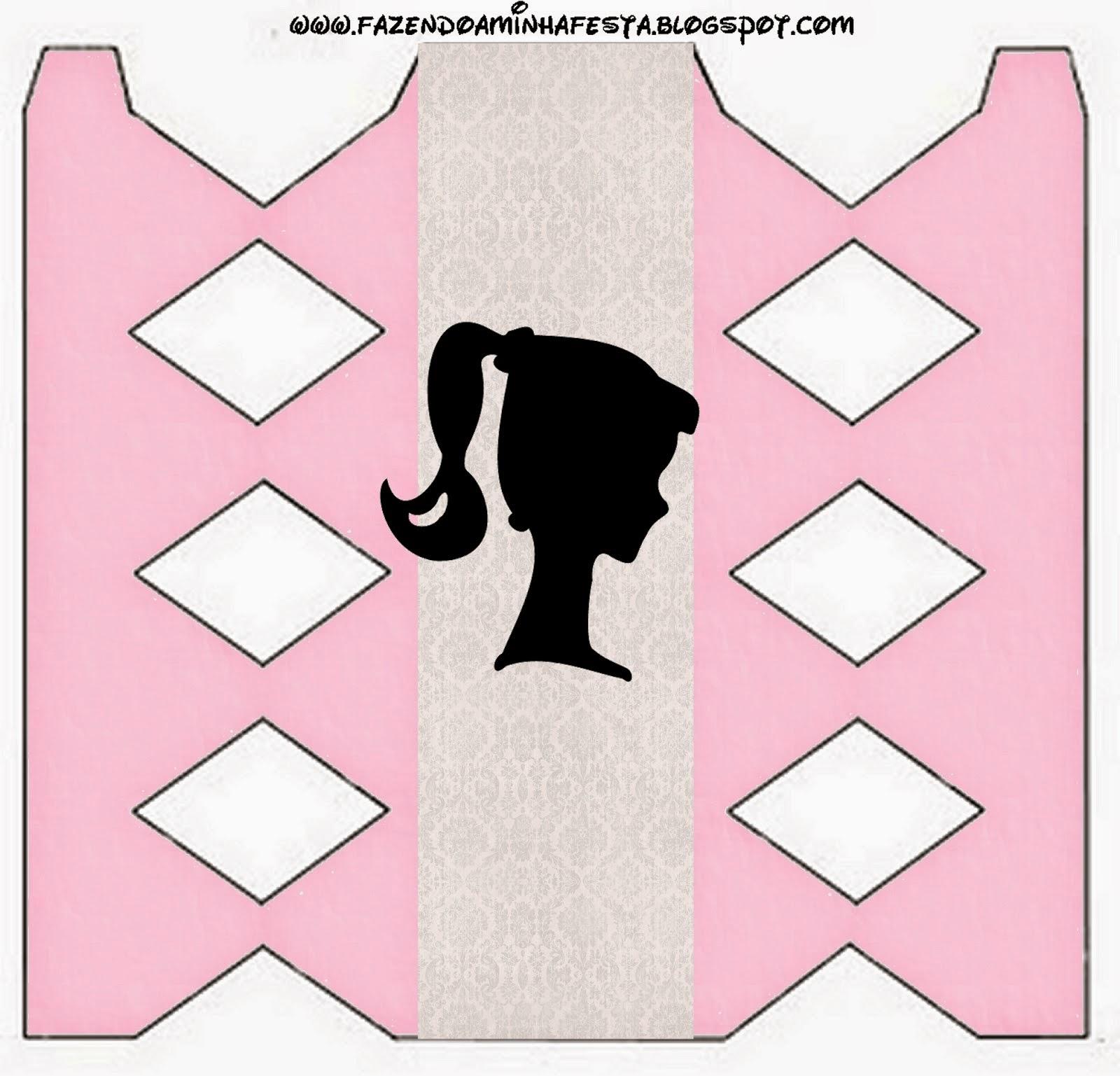 Barbie Silhouette Free Printable Box.