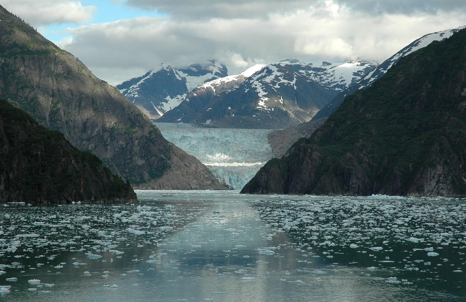 Tracy Arm Fjord, Alaska HD Background