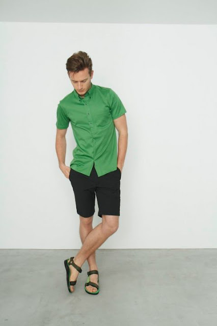 greenery a cor de 2017 verde moda masculina (2) Camisa Manga curta verde